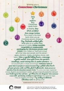 wishing you a conscious christmas
