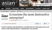 is tourism destructive headline