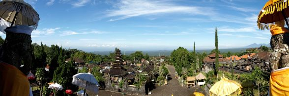 View south from Bali's Mother Temple Besakih (c) Popanesh, Wikipedia