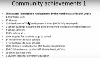 community achievements