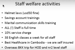 staff welfare achievements